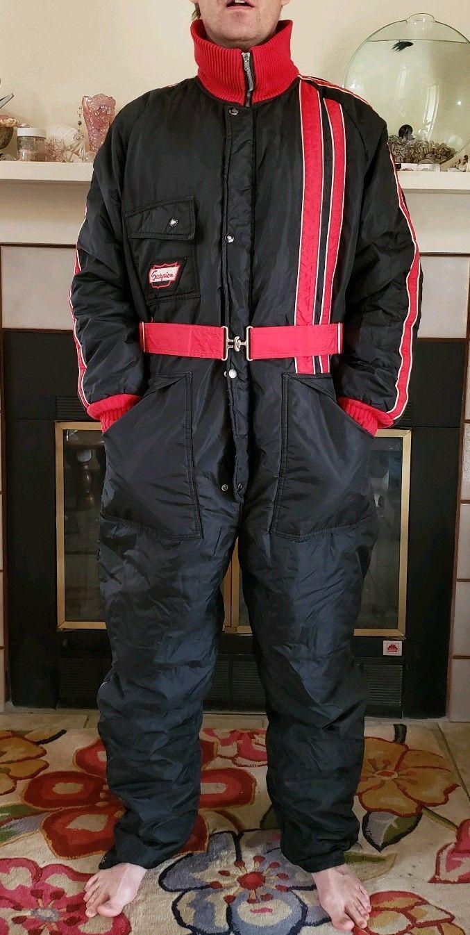 b4617721ff476 Vintage Scorpion Wear Ski Snowmobile Snowsuit Black Red Size Mens Size L XL  | eBay