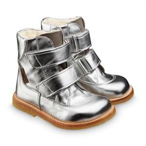 Sølvfarvet TEX membran Angulus støvle med foer.
