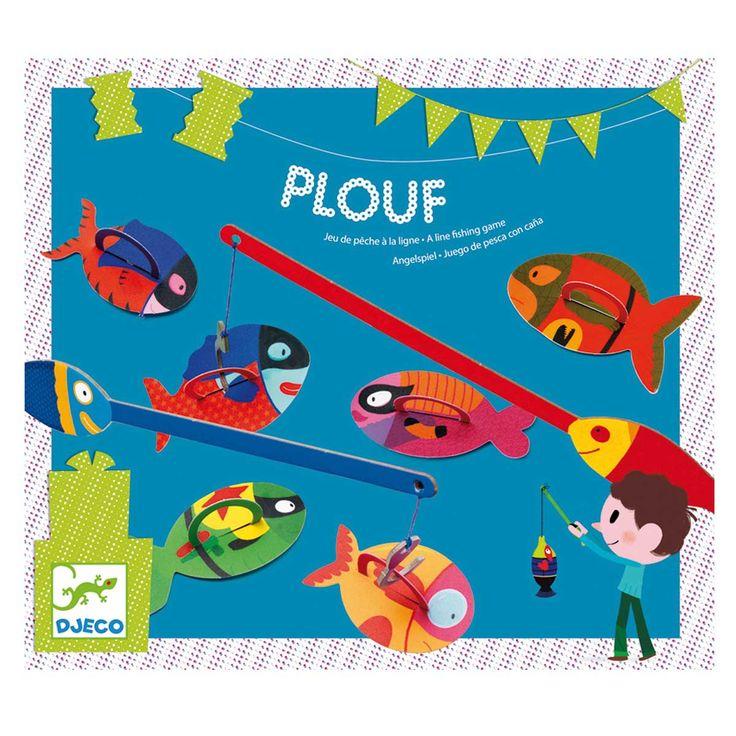 Jeu de pêche à la ligne. Un classique des fêtes d'enfants : les poissons sont numérotés. Le gagnant est celui qui rapporte le plus de points !