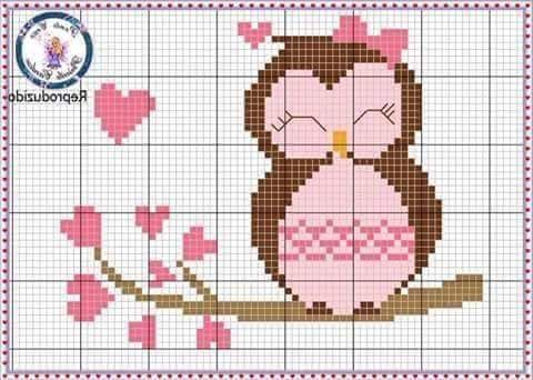Owl cross stitch.