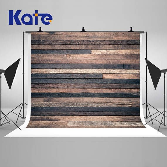 Retro Wood Wall Photography Backdrops Newborn Baby Wood Planks