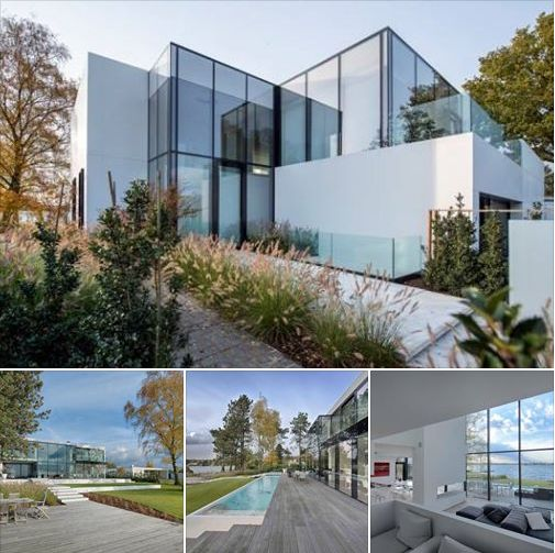 House at a Lake by BBSC Architects in Belgium