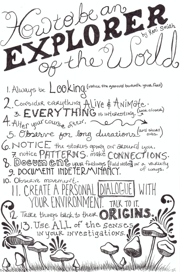How to be an explorer of the world.  By Keri Smith