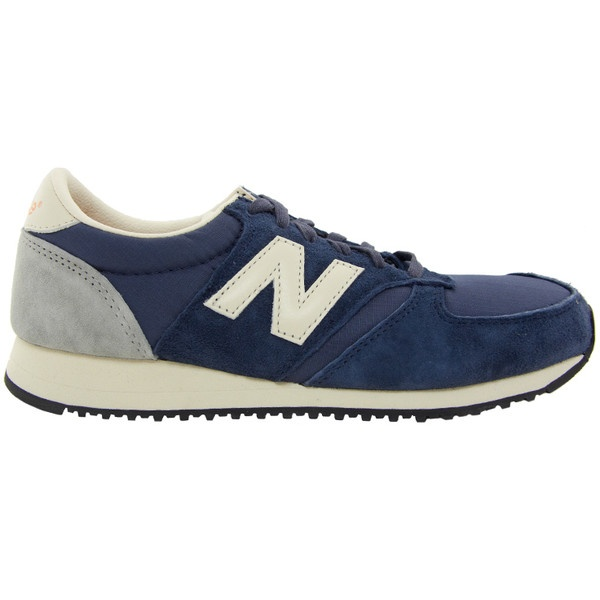 New Balance 420 Navy Suede Trainers (3,475 PHP) found on Polyvore