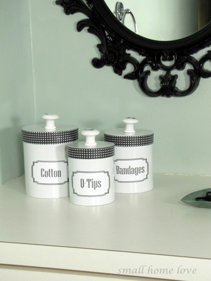 Upcycled Dollar Store gift box canisters:  cute,but I think Id leave off the kno