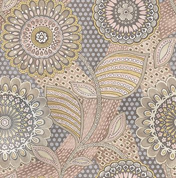 Retro Floral Taupe wallpaper by Eijffinger