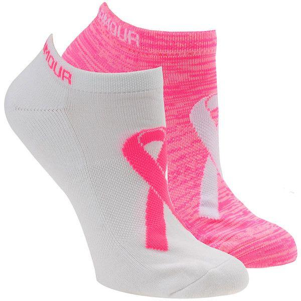 Under Armour Women's Power in Pink 2.0 No Show Socks Multi Socks M ($14) ❤ liked on Polyvore featuring intimates, hosiery, socks, multi, pink socks, sweat wicking socks, moisture wicking socks, nylon socks and wicking socks
