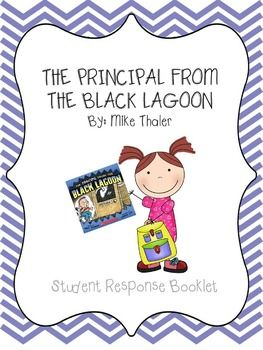 "In this printable, students will read The Principal from the Black Lagoon by Mike Thaler and use graphic organizers to complete tiered questions based off Fountas & Pinnell ""about the text, within the text and beyond the text"" model. Questions include but are not limited to sequencing, making text-to-self connections, comparing & contrasting using a venn diagram, and inferring while using text based evidence to support student answers!"