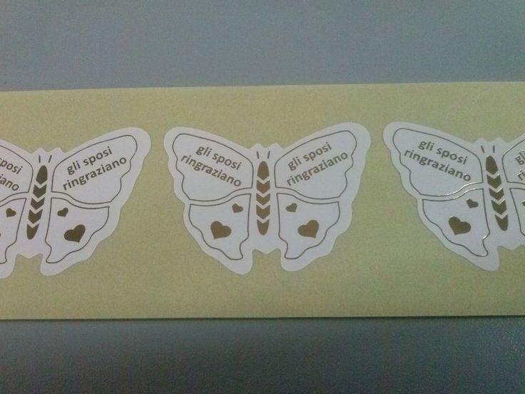 100 ETICHETTE BOLLINI ADESIVI bomboniere segnaposto nozze portaconfetti C14