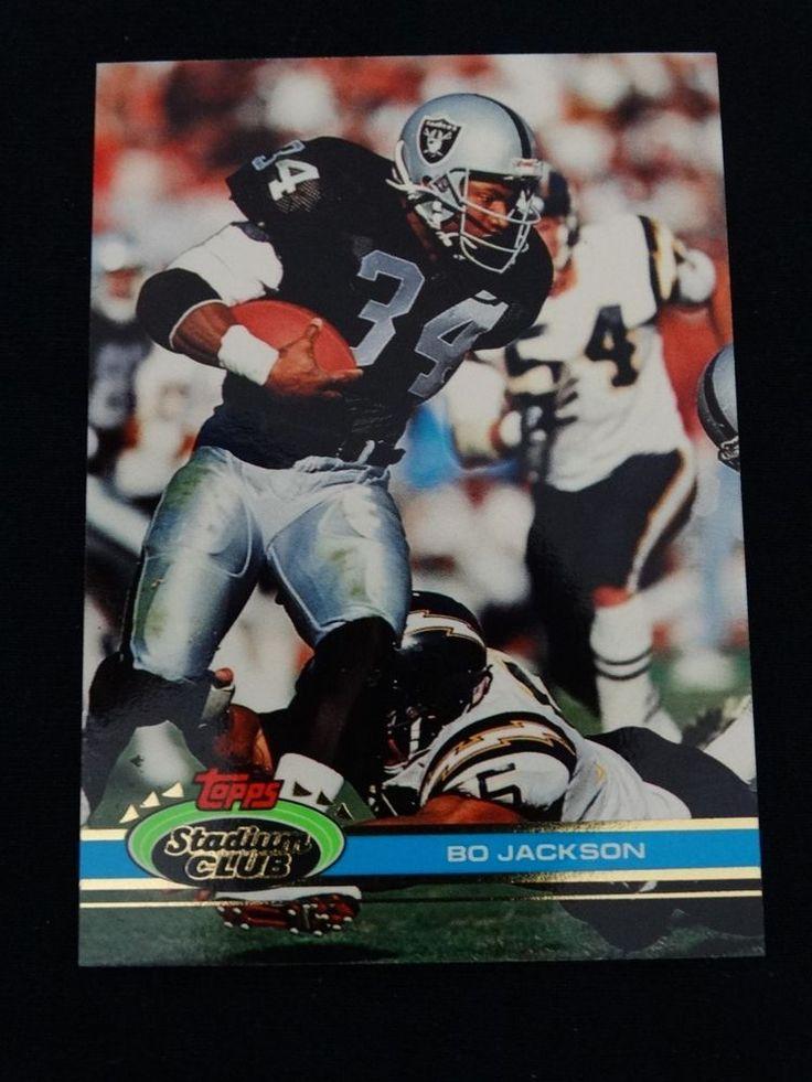 1991 Topps Stadium Club #462 Bo Jackson Los Angeles Raiders Card #LosAngelesRaiders