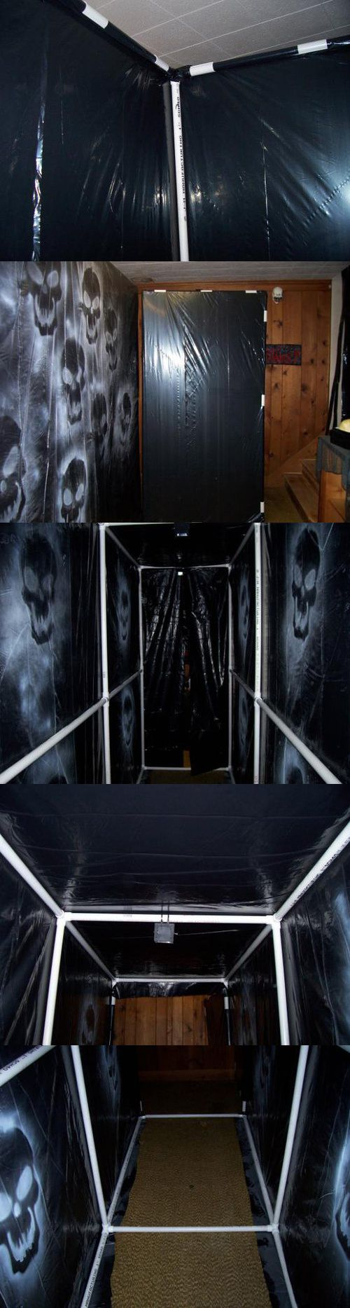 Haunt your home with PVC and Fire Retardant Black Plastic Sheeting! Then paint over it!!