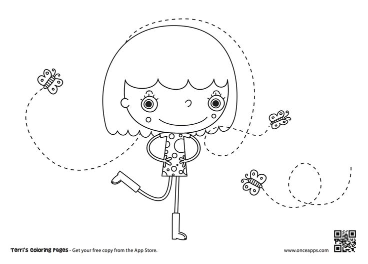 Just print out and Paint it with a real pencil! Or watch out for the upcoming iPad edition of Terri's Coloring Pages!   #coloring #kidapps #terri #ONCE Digital Arts #iPad #Promotional screenshot  http://app.lk/terriscoloring?x=g