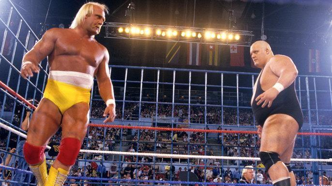 WrestleMania II : Hulk Hogan vs. King Kong Bundy at Los Angeles Memorial Sports Arena on April 7, 1986.