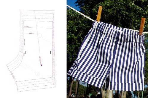 Patrón pantalón/bermuda bebé