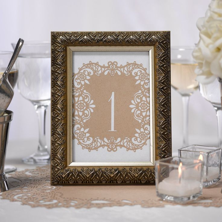 Laser Cut Wedding Table Number Cards