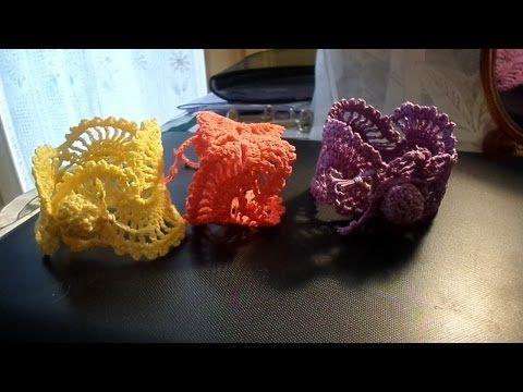 Tutorial bracciale braccialetto all'uncinetto,crochet bracelet - YouTube