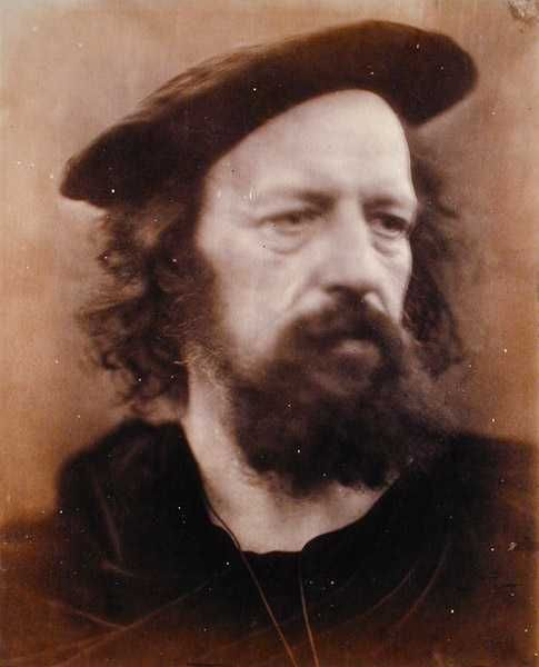 Alfred, Lord Tennyson by Julia Margaret Cameron. He looks so scruffy for a poet who writes such elegant verse!