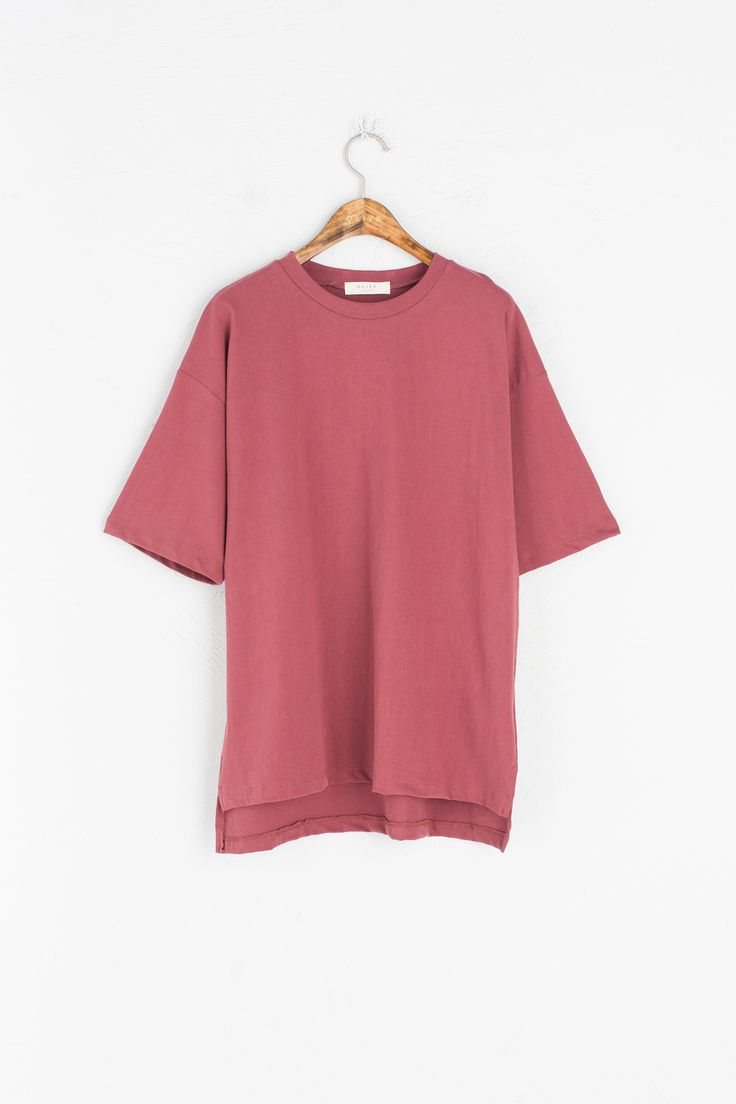 Olive - Washed Cotton Short Sleeve Tee, Wine, £35.00 (http://www.oliveclothing.com/p-oliveunique-20161209-020-wine-washed-cotton-short-sleeve-tee-wine)