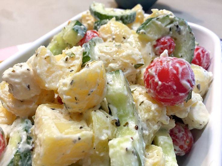 Griekse aardappelsalade