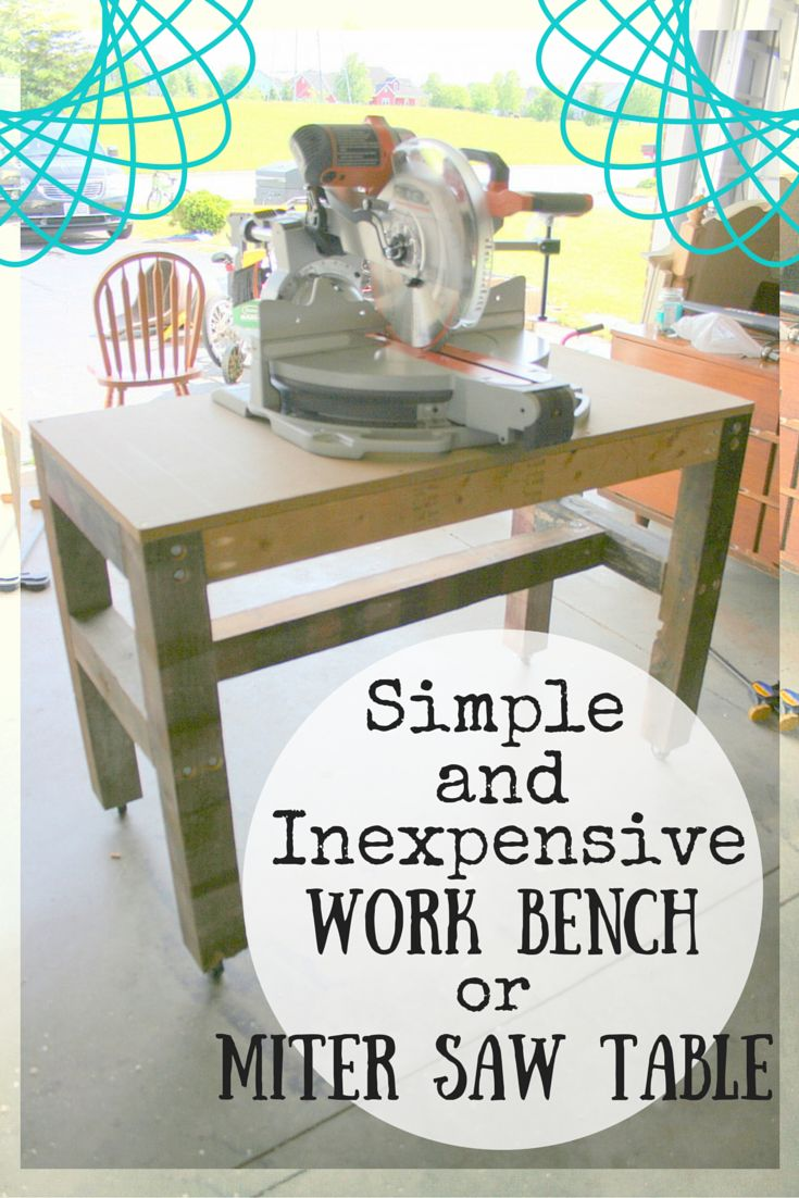 With this cheap and easy miter saw table tutorial you will be able to build either a table for your saw or a super sturdy workbench for around $20!