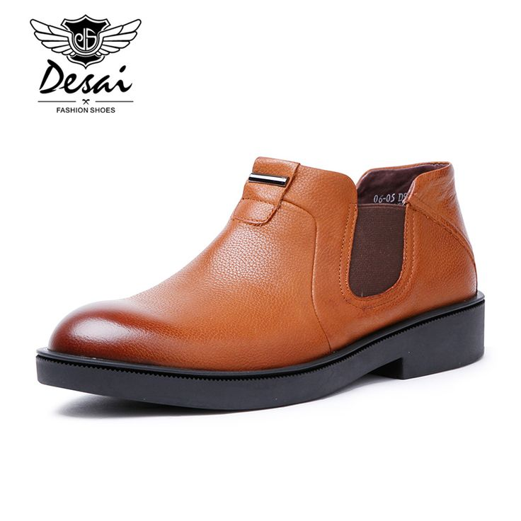 Desai High Quality New Fashion Men Spring Autumn Boots Men Martin Boots High Top Genuine Leather Men Ankle Boots For Men Shoes