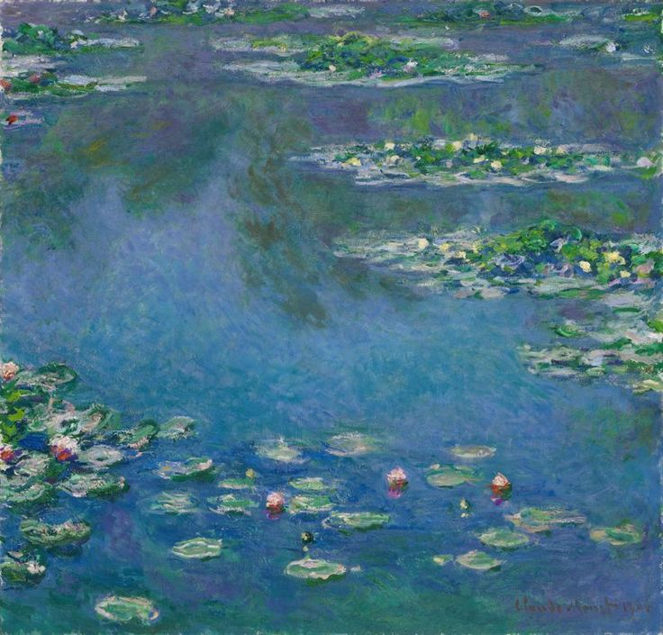 Claude Monet waterlilies  Art Institute of Chicago.  ** I never appreciated the pure beauty of impressionist until visiting an exhibit.  When you have the opportunity~ GO!  ~ SR **