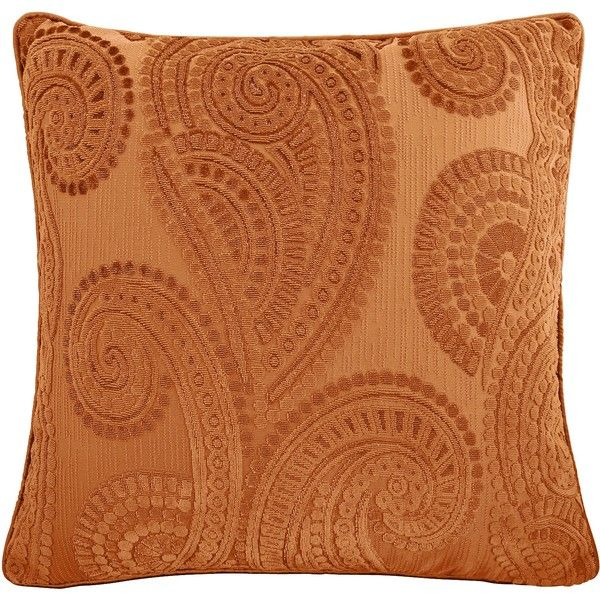 Pier One Decorative Throw Pillows : Pier 1 Imports Orange Baroque Paisley Pillow (1.845 RUB) liked on Polyvore featuring home, home ...