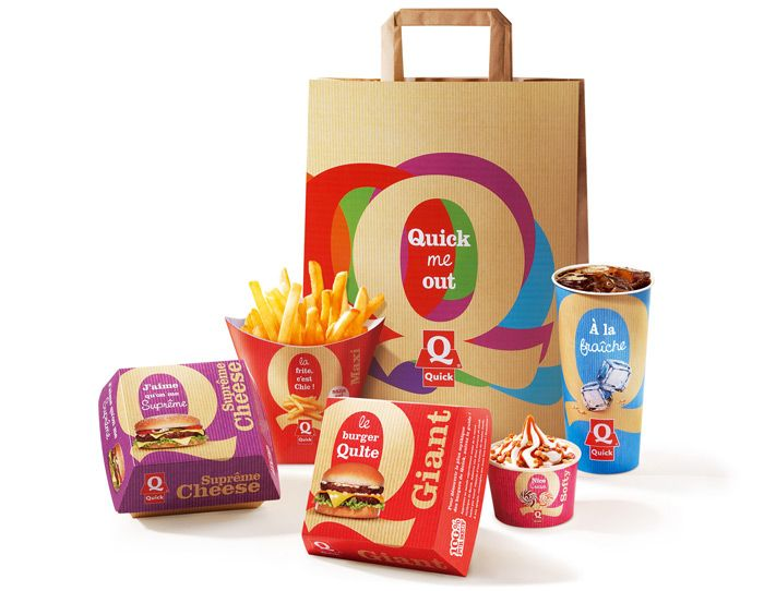 Before & After:Quick - The Dieline - The #1 Package Design Website -D Packaging, Consistency Packaging, Package Design, Packaging Design, Entire Packaging, Creative Packaging, Design Website, Fast Food Restaurants, Fast Foods