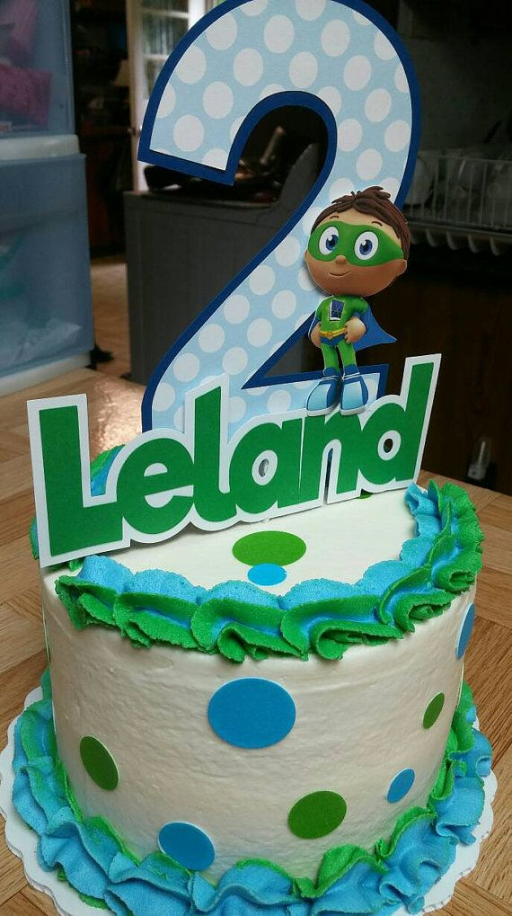 Super Why Cake Topper super why Birthday super by PaperedAffair