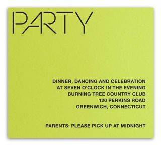 Neon Green Laser Bar Mitzvah Party Card