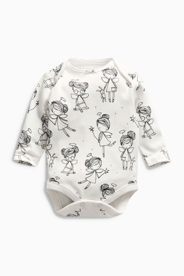 Buy Monochrome Long Sleeve Fairy Bodysuits Three Pack (0mths-2yrs) from the Next UK online shop