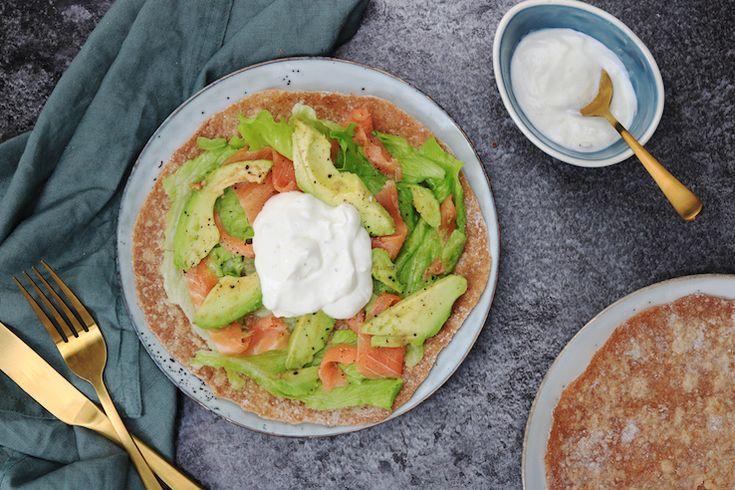 Romige speltwraps met zalm en avocado – SKINNY SIX