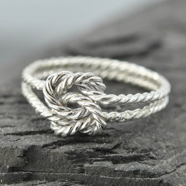 infinity ring, double infinity, twisted, rope, knot, sisters, best friend, wedding, bridesmaid. gift by JubileJewel on Etsy