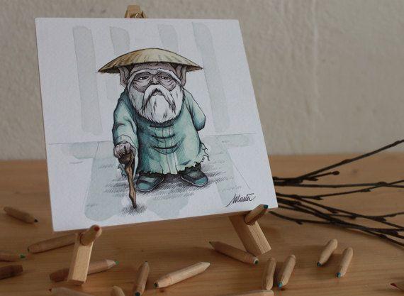 Maestro dei Cinque Picchi (Cavalieri dello Zodiaco); 15x15cm; acquerello e penna su carta.