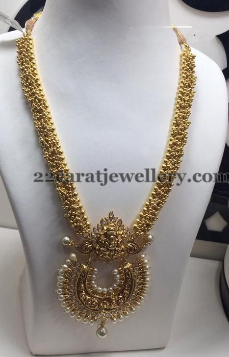 Jewellery Designs: Gold Swirls Long Chain