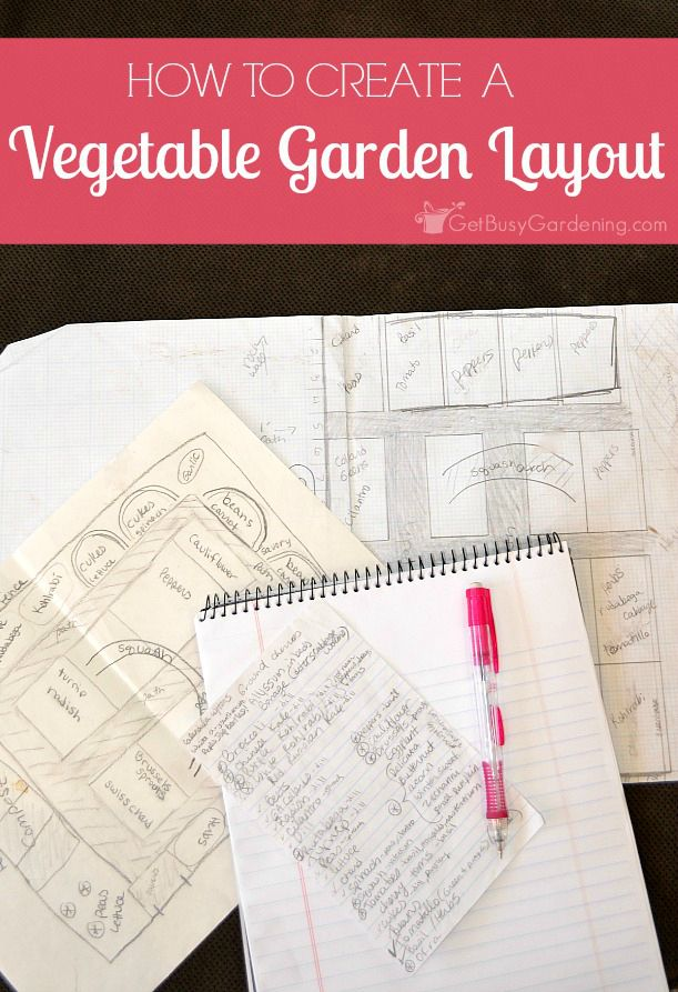 Planning the vegetable garden takes the stress out of planting, harvesting and maintenance. Here are tips for creating a backyard vegetable garden design. #garden #vegetablegarden #growing #getbusygardening