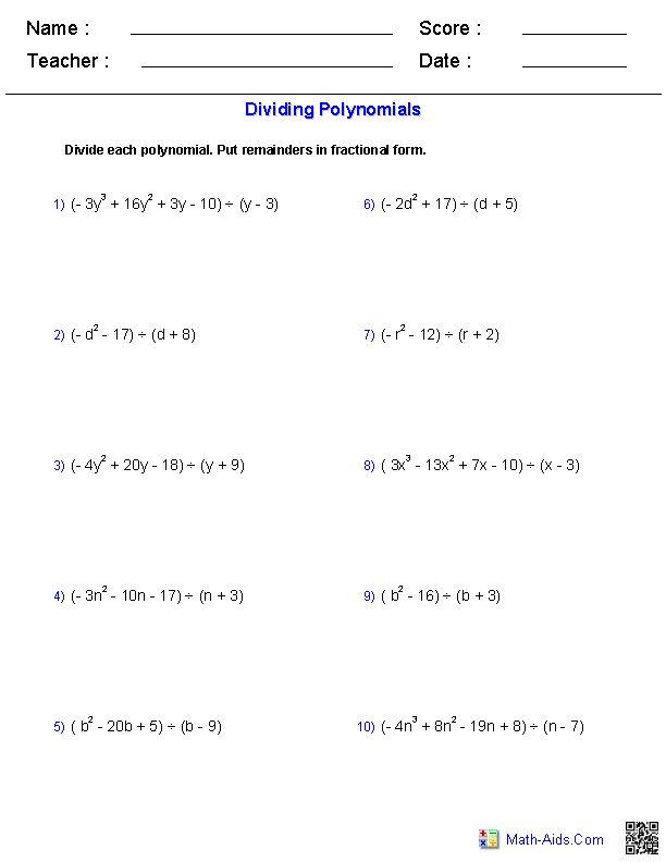27 best math 3 - polynomials images on Pinterest | Algebra 2 ...