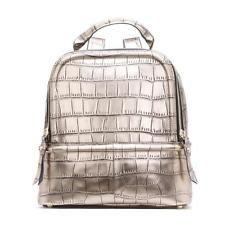 женщин подлинное кожаный рюкзак крокодил леди девочка школьная сумка рюкзак