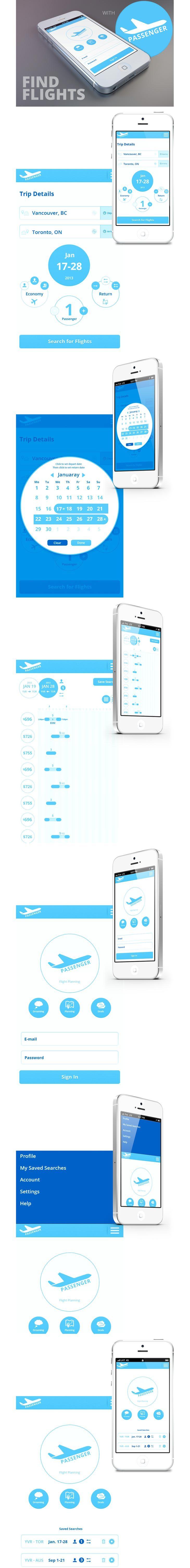 Passenger Flight Planning App