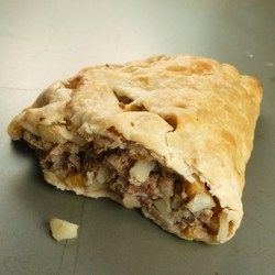 Upper Peninsula Pasties - Traditional Pasties from Michigan, filled with beef, pork, and vegetables.