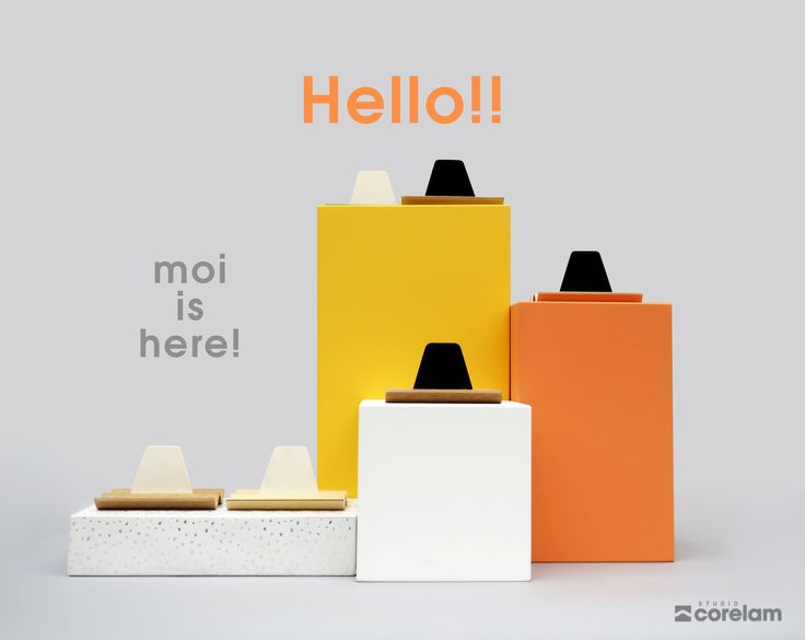 On June 8th, we've launched Studiocorelam with our first product: moi, to set sail into the world!