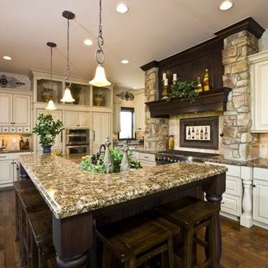 L-Shape Island Home Design Ideas, Pictures, Remodel and Decor