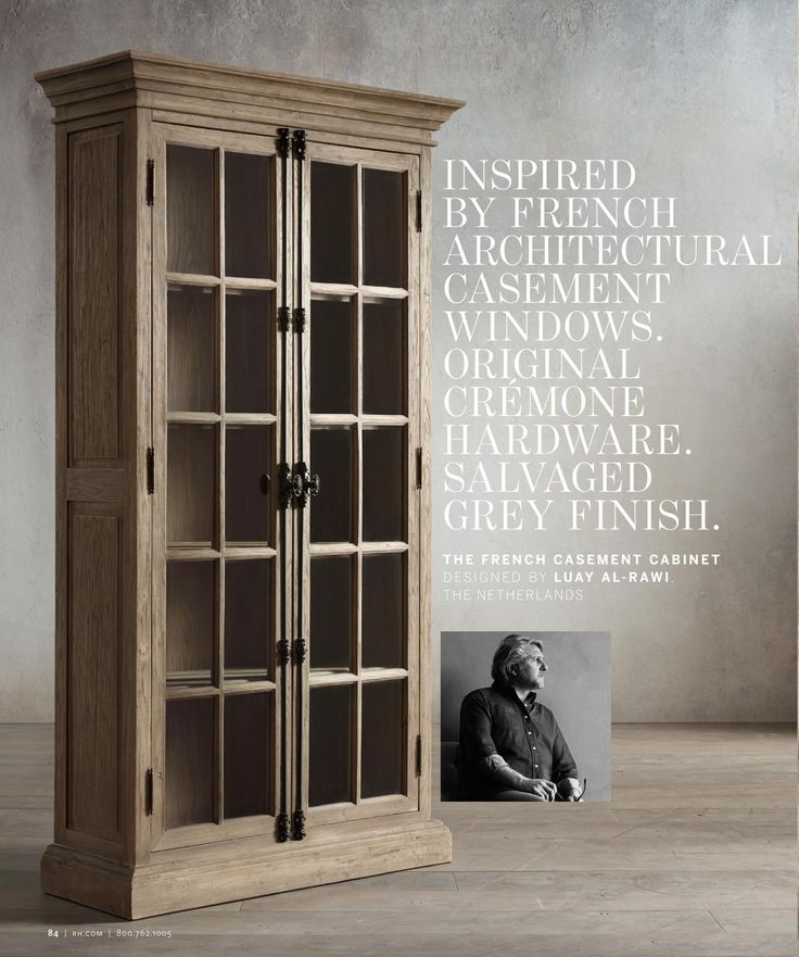 rh   the french casement cabinet designed by luay al