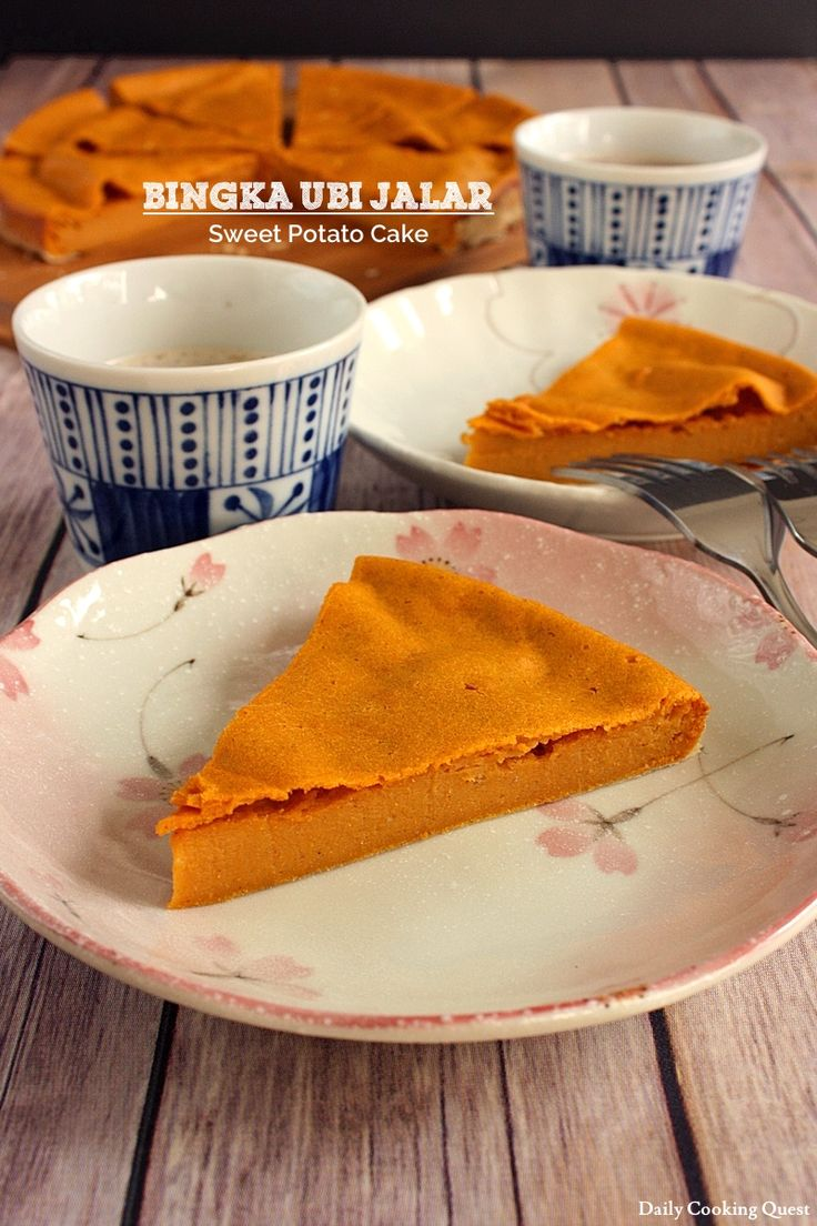 Bingka Ubi Jalar - Sweet Potato Cake with coconut milk, vanilla, etc #Indonesian dessert