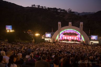 The view from the benches at the Hollywood Bowl - Photo © 2009 Kayte Deioma, licensed to About.com