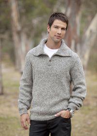 Patons Eco wool chunky man's sweater