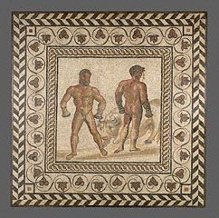 Mosaic Floor with a Boxing Scene, Gallo-Roman, about A.D. 175