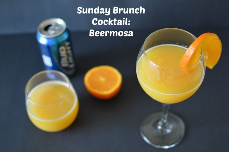 Beermosa - A Sunday Brunch Cocktail - http://www.sofabfood.com/beermosa/ Learn how to make an awesome Brass Monkey, aka Beermosa. We love this blue-collar breakfast cocktail consisting of orange juice and light, American-style lager beer. This is the ultimate brunch or party drink.  A Sunday Brunch Cocktail: Beermosa We love Sunday brunch cocktails and this Beermosa i...
