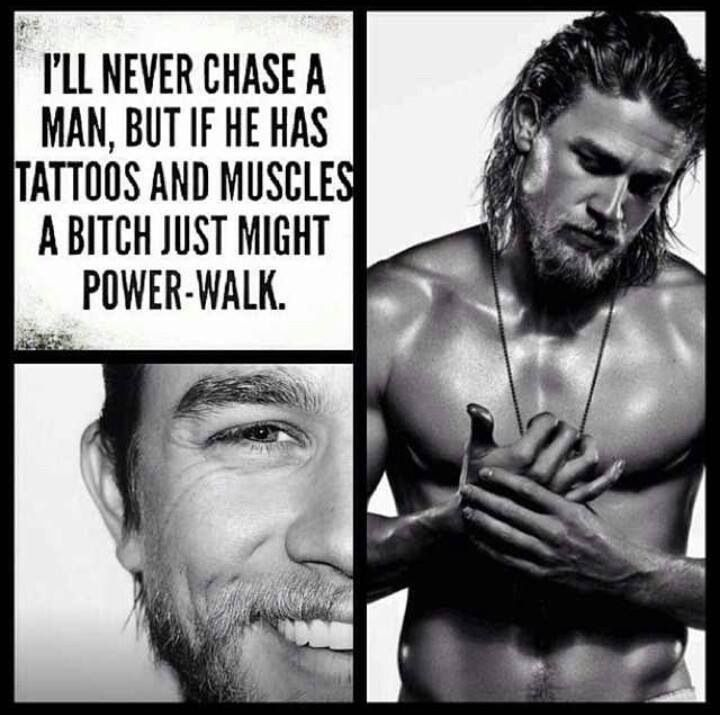 Haha.. YES! For Jax Teller I would most certainly power-walk!