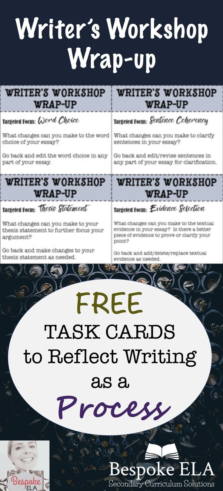 English Essay My Best Friend This Freebie By Bespoke Ela Contains Task Cards To Use At The End Of  Writers Workshop To Reflect Writing As A Process Great For Secondary English  Language  English Essay Writer also English Essay Example  Best Essay Minilessons For Middle School And High School  What Is A Synthesis Essay